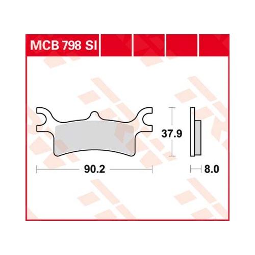 TRW MCB798SI POLARIS STRAŽNJE-0